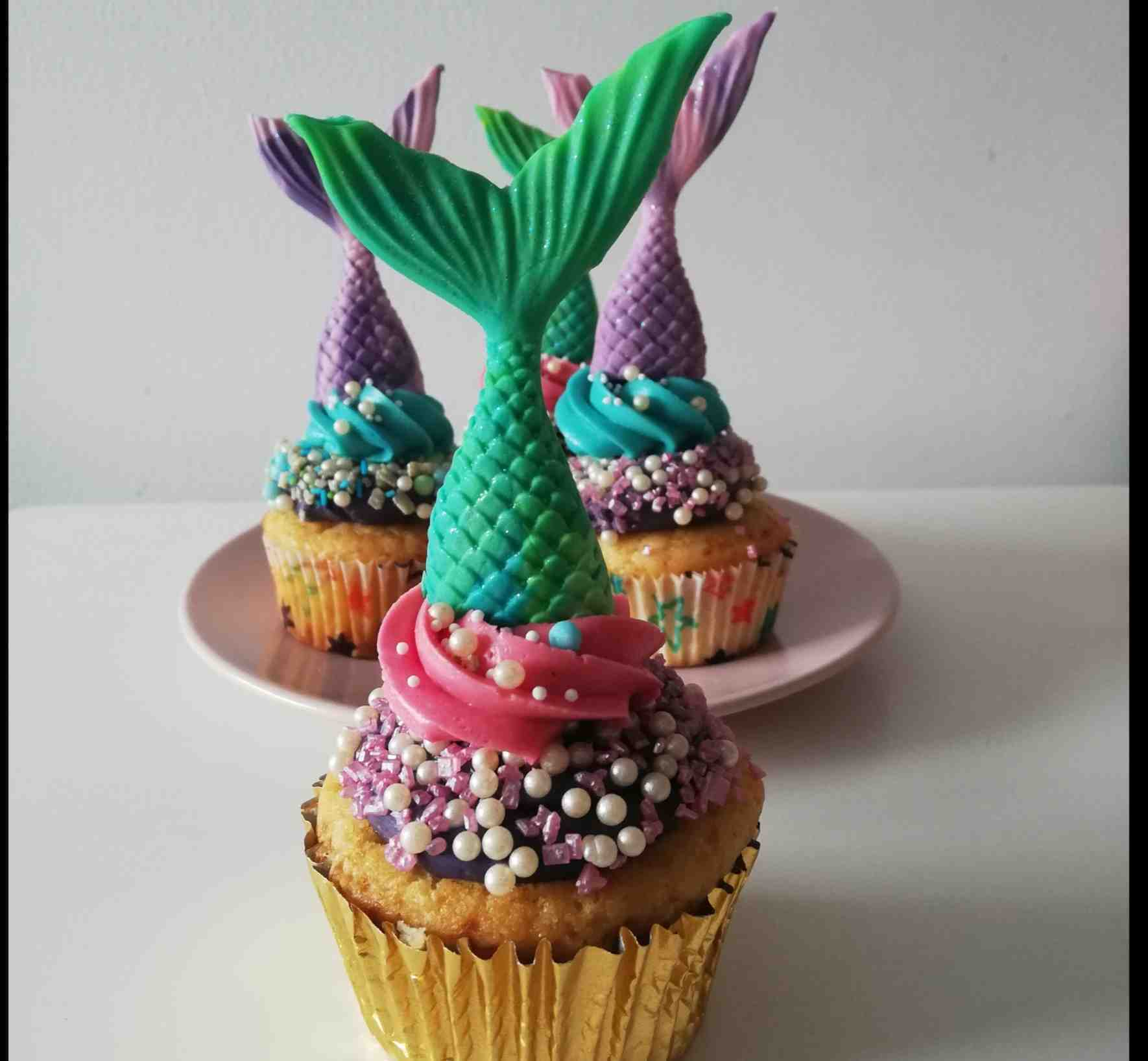 Cupcakes de Sirena