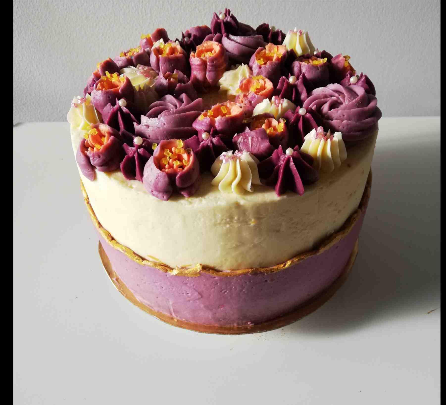 Tarta de Crema decorada