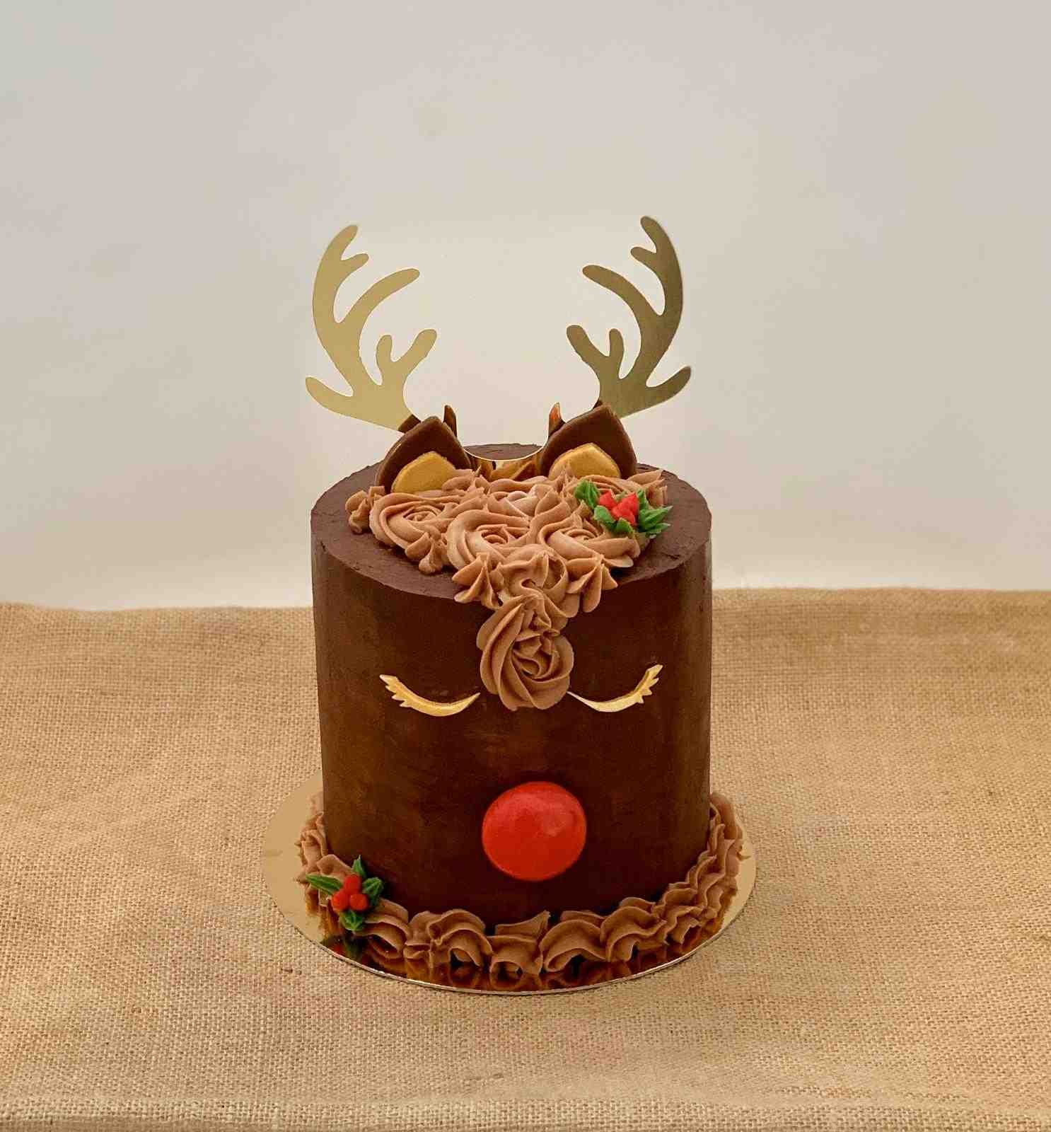 Rudolph Cake Chocolate Húmedo