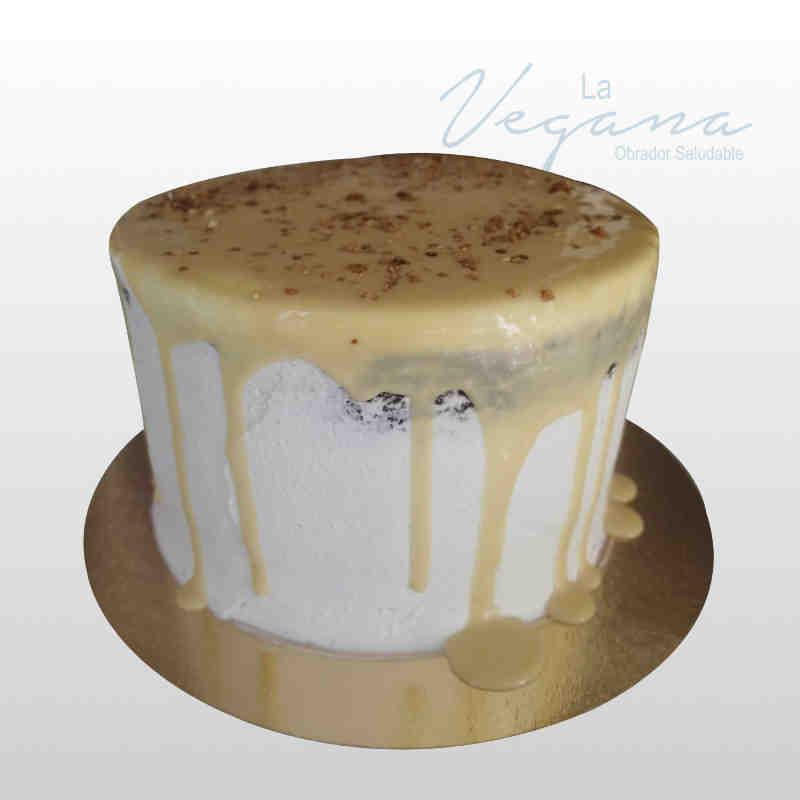 Tarta de chocolate, crema de queso y caramelo salado