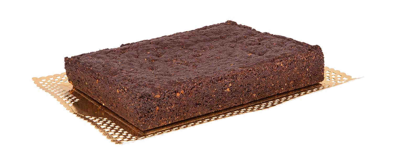 Tarta de brownie vegano