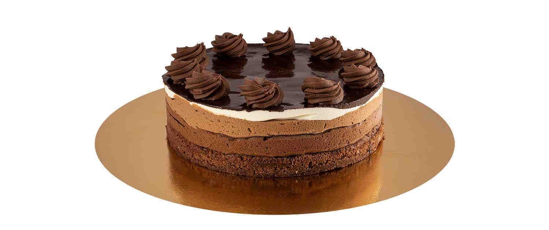 Tarta de tres chocolate